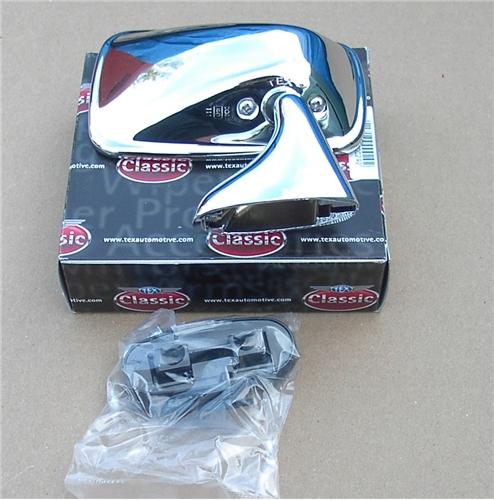 & 44b) STAINLESS STEEL TEX DOOR MIRROR RH MK4/1500